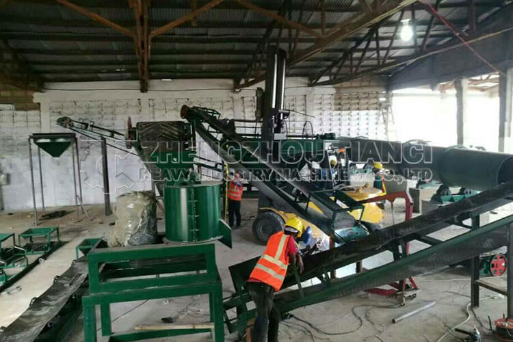 Ghana Organic Fertilizer Production Line Installation Site1