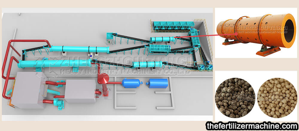 coating machine of NPK fertilizer production line