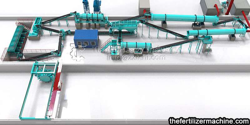 Granular organic fertilizer production line