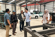 Malaysian Customers Came To Visit Our Fertilizer Machine In TianCi