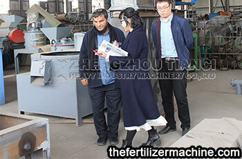 Saudi customer visit fertilizer granulation equipment
