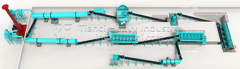 NPK compost fertilizer production line