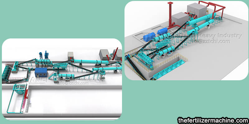 organic fertilizer production line and NPK inorganic fertilizer production line